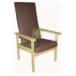 Cadeira geriátrica com encosto fixo alto